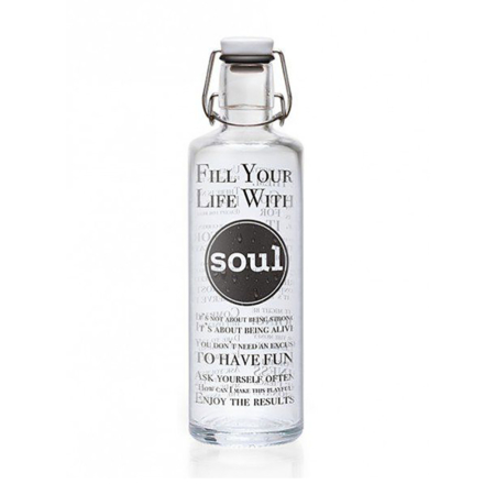 Soulbottles Fill your life with soul - 1 L - Glaswasserflasche - vitalbio